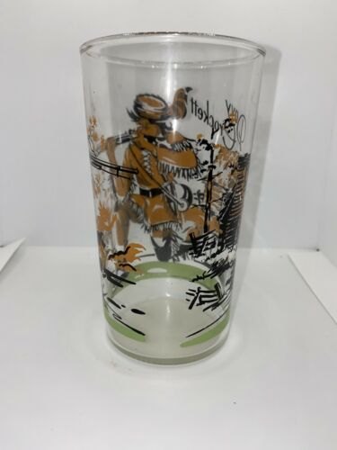 VINTAGE 1950 s COLLECTIBLE DAVY CROCKETT 4.75 TUMBLER GLASS - $12.99