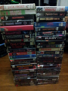 Large collection of horror and thriller VHS's some very rare Maribyrnong Maribyrnong Area Preview
