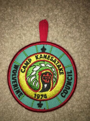 Boy Scout Camp Kanesatake 1974 BSA OA MGM Loop Wolverine Council Michigan Patch