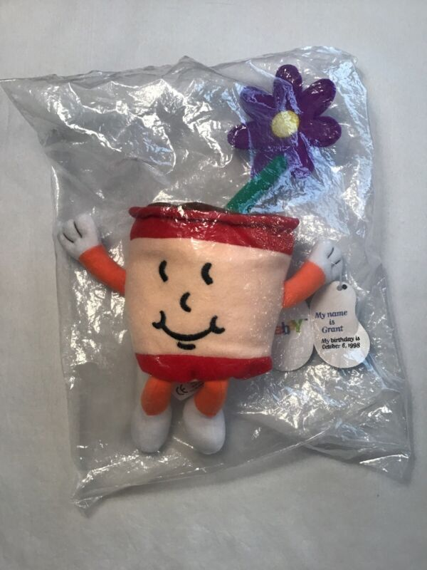 Vintage 1998 Ebay Foundation Flower Pot Official Bean Bag New In Sealed Package