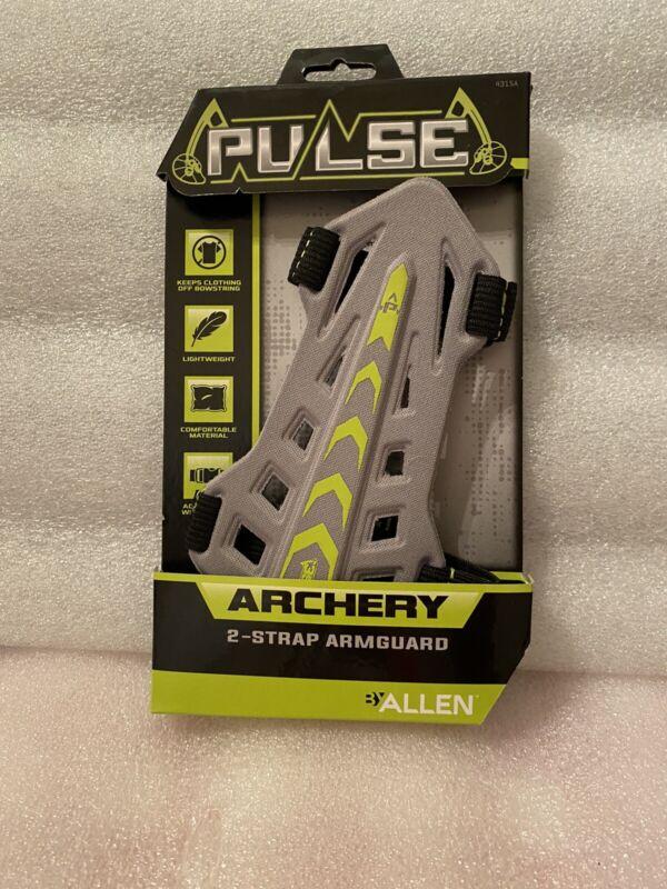 Pulse Archery by Allen 2-Strap Bow Archery Armguard Gray & Green Lightweight