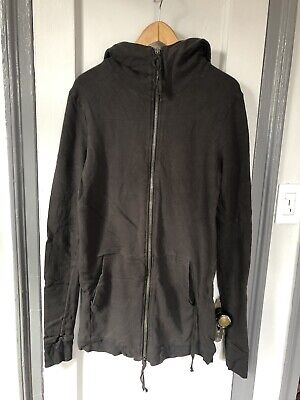 SILENT BY DAMIR DOMA MENS HOODIE LONG COAT LARGE