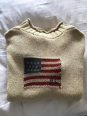 Dettagli su Ralph LAUREN POLO Vintage Lavorato a Maglia Pullover Bandiera Americana Taglia L mostra il titolo originale