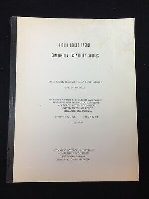 1966 LIQUID ROCKET ENGINES COMBUSTION INSTABILITY STUDIES, USAF ROCKET LABORATOR ()