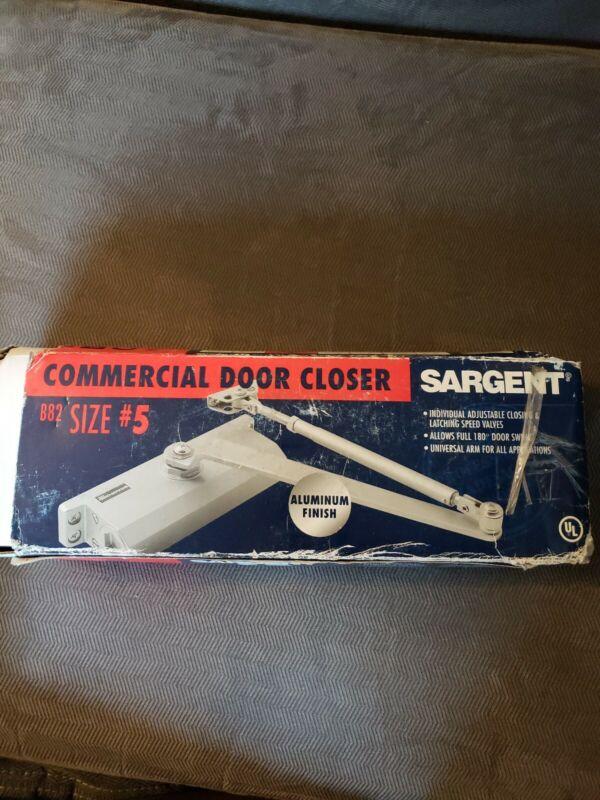 New Sargent Commercial Door Closer Size #5 B82; Aluminum Finish