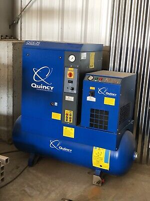 Quincy Qgs-7.5 Rotary Screw Air Compressor And Packaged Air Dryer