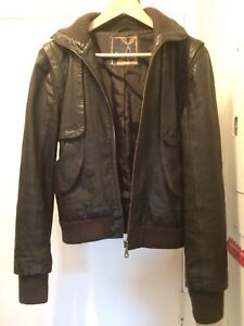 "Brown ""Foxy Jeans"" GENUINE LEATHER Jacket (Large Women's)"