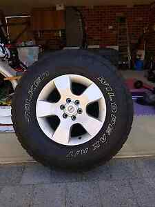 Navara 4x4 rims with Falken all terrains Baldivis Rockingham Area Preview