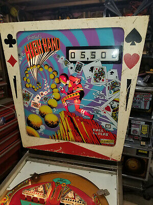 gottlieb high hand pinball machine