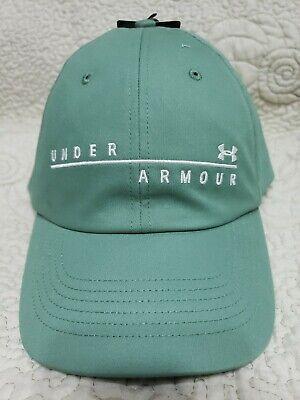 UNDER ARMOUR Women's UA Wordmark Free Fit HeatGear Hat Green NEW
