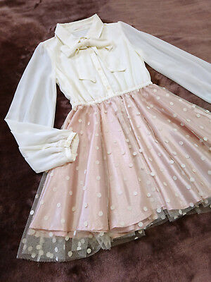 Chiffon ribbon docking Dress LIZ LISA Japan-M Hime Gyaru Lolita Romantic Blouse