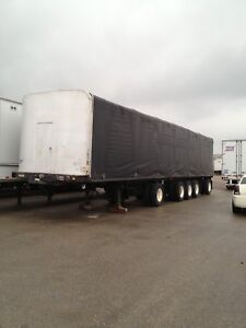 Transport truck 5 axle trailer