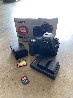 Canon EOS 5D Mark IV 30.4MP Digital SLR Camera - Black (Body W/extras)
