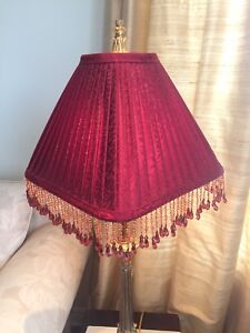 Lamps (2) ; Crystal embellish ; 35x 7/ shades12x 12, 11 height