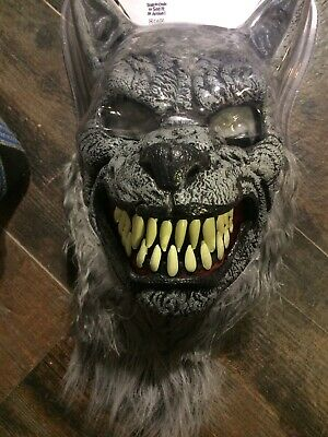 California Costume Scary Werewolf Ani-Motion Mask, Mouth Opens And