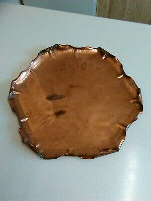 Antique Arts & Crafts Style Copper Tray (1923)