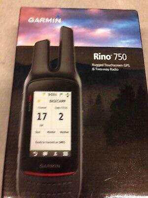 """Garmin Rino 750 Handheld GPS & Radio 5 Watt FRS/GMRS 3"""" Touchscreen 010-01958-00"""