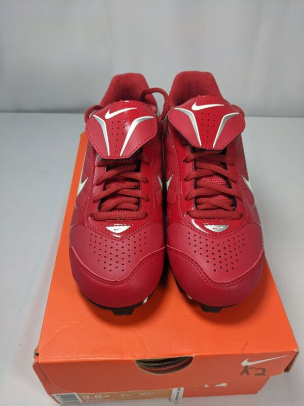 Nike Keystone Low YOUTH Baseball Cleats Boys 3.5y red white New