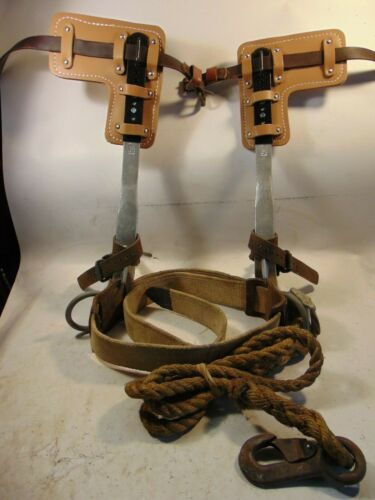 BUCKINGHAM ADJUSTABLE STEEL POLE/TREE Climbing Spurs/Spikes/Gaffs Kit