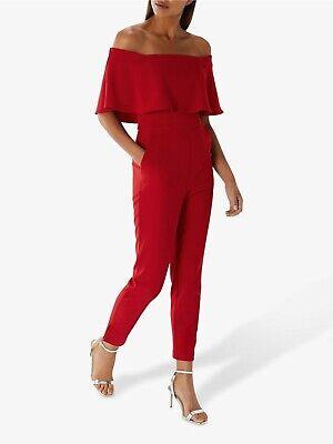 Coast Harlem Rojo Bardot Mono Cóctel Vestido Todo en Uno Ocasión 8...