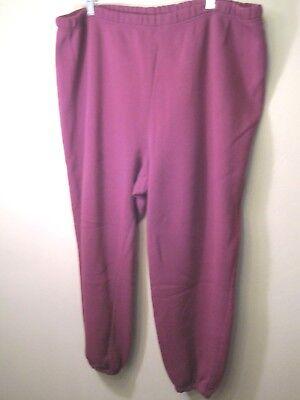 Romans Pull On ladies Pant 2X elastic Waist & Cuffs 100% poly Plum leasure wear