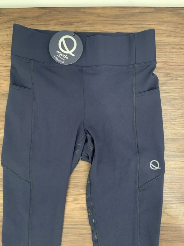 NWT Eqode By Equiline Womens Full Grip Leggings, Blue Size S