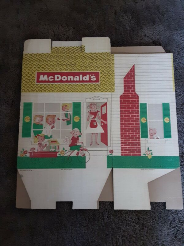 Vintage 1960's McDonald's Family Meal Take Out Box. Very Rare!!