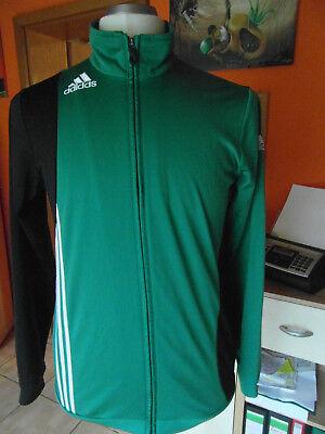 Adidas Herren Jogging-Sport-Fitness-Trainingsjacke grün/schwarz Gr.176