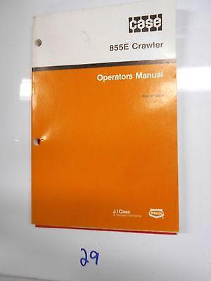Case 855e Crawler Operators Owners Manual Maintenance Bull Dozer 9-19261