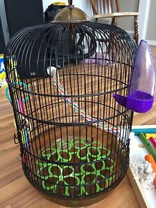 Selling a bird cage and bird play ground for $45