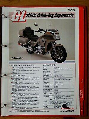 HONDA, Sales Brochure, Dealer RedBook 1985, A4 , GL1200A Goldwing Aspencade