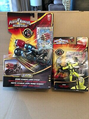 Power Rangers Megaforce Robo Knight Lion Cycle and Loogie Figure