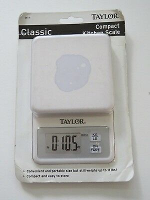 Taylor Compact kitchen weighing food Classic white digital kg oz scale  11 LBS