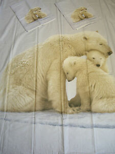 marks and spencer polar bear print cotton king duvet cover. Black Bedroom Furniture Sets. Home Design Ideas