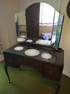 Antique Dressing Table & Mirror