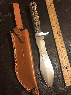 "Vintage Stag "" Elk Knife "" Handmade Solingen Germany Puma White Hunter Inspired"
