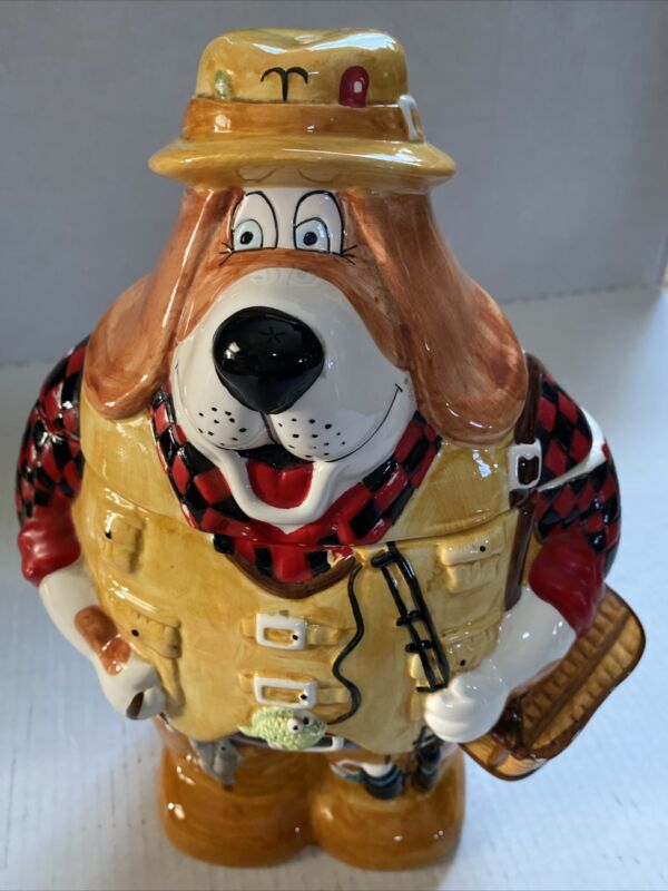 Culinary Collection Hound Dog Fishing Cookie Jar