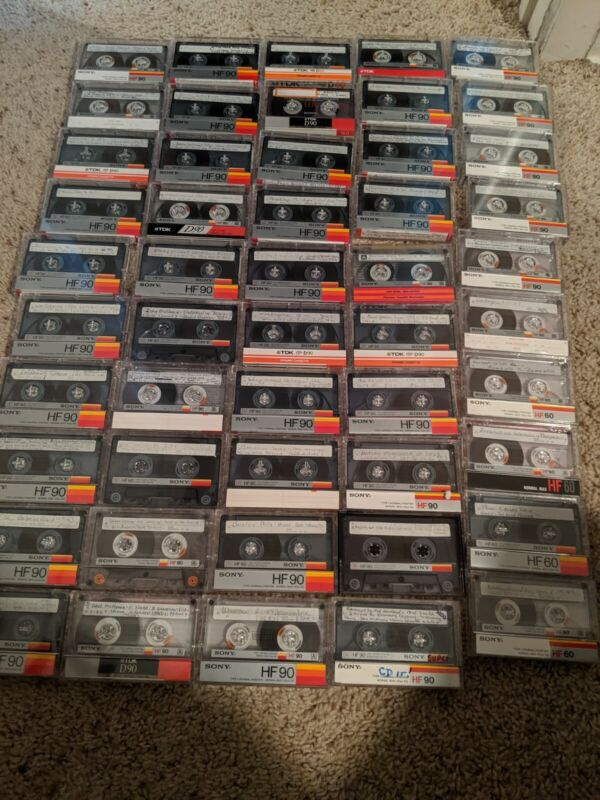 Lot Of 50 Vintage Sony HF Tapes Sold As Blanks