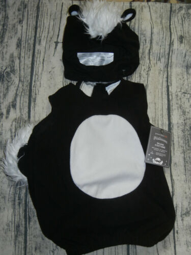 NEW Pottery Barn Kids Halloween costume baby skunk 0-6  months Stinker