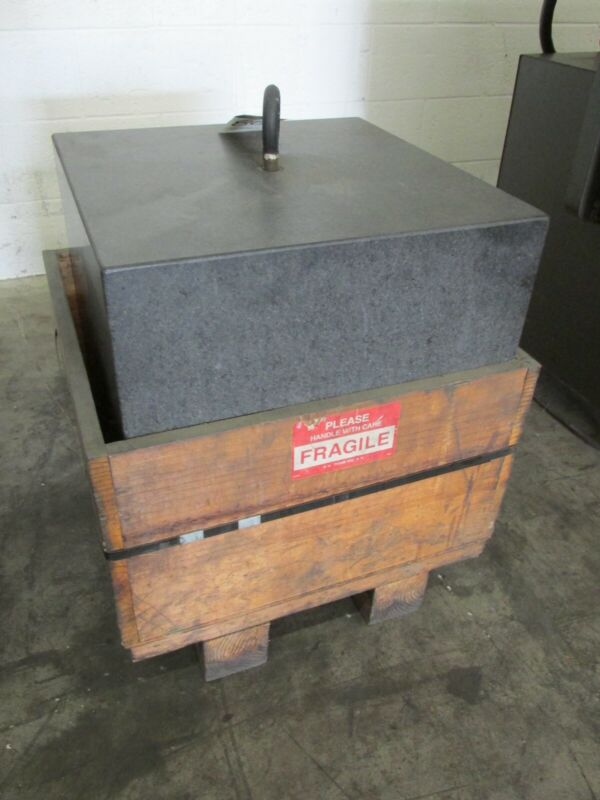 """18"""" x 18"""" x 18"""" GRANITE BLOCK COUNTER WEIGHT TOOL GRADE SURFACE PLATE 645 LBS"""