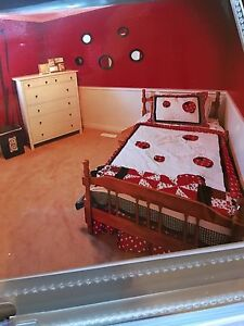 Twin ladybug bedding set