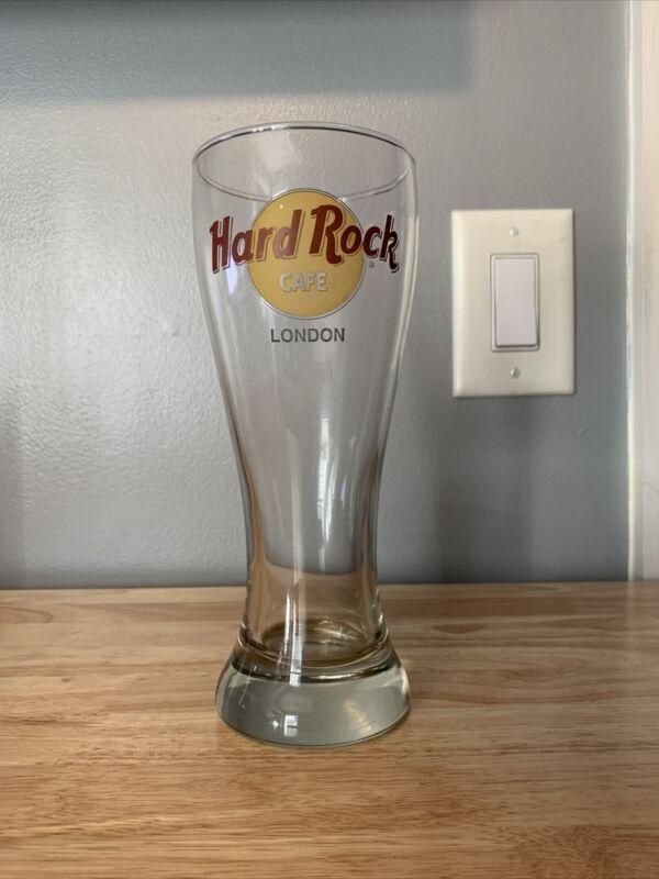 Hard Rock Cafe London Pilsner Beer Glass United Kingdom Souvenir