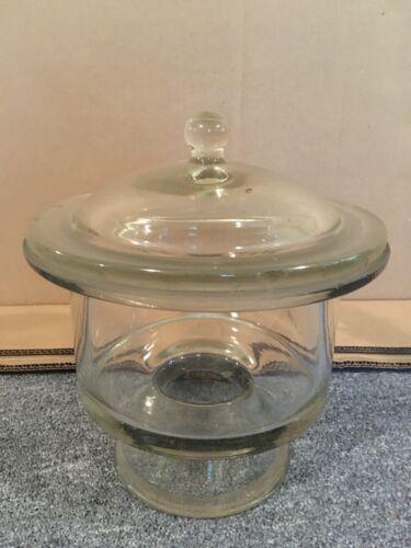 "Vintage Glass Laboratory Desiccator, 8.75"" diameter"