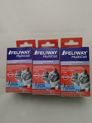 New  Feliway Multicat  3 Refills For Cats  3  Months  For  Ceva Diffuser