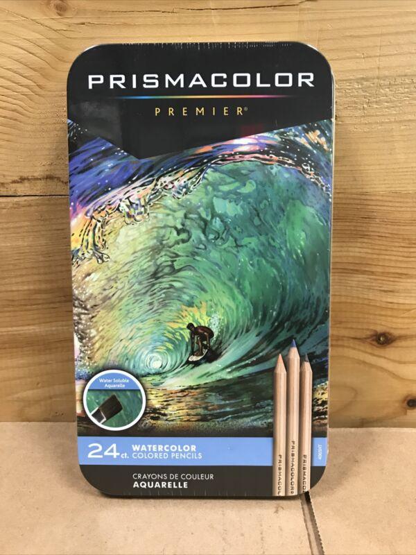 Sanford PrismaColor Premier 24 PC Brilliant Watercolor Pencil Set 2068555 - NEW