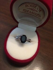 Silver Sapphire Ring Gordon Moorabool Area Preview
