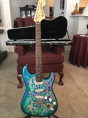 Fender Stratocaster Blue Flower Reissue  Mij  Reissue Electric Guitar