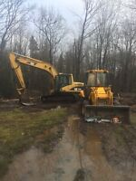 Foundations, site work, road building, general contracting