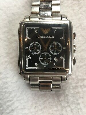 Emporio Armani AR5331 Watch TESTED WORKS NEW BATTERY Stainless Steel