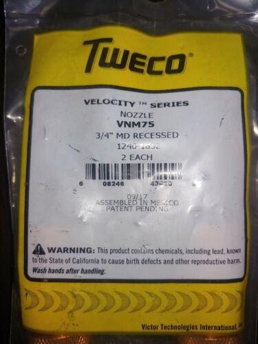 "Tweco Nozzle VNM75 (1240-1852) 3/4"" Threaded - Recess Med Duty Velocity"